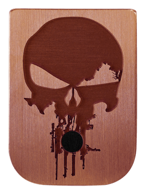 Rifle Skull Mag Plate - 3 Finishes Available