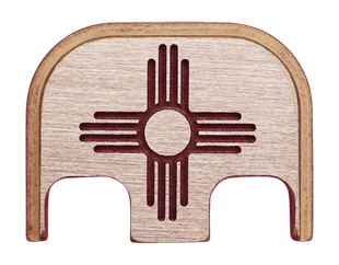 New Mexico Flag Back Plate - 3 Finishes Available