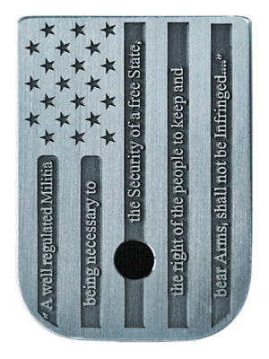 American Flag 2A Mag Plate - 3 Finishes Available
