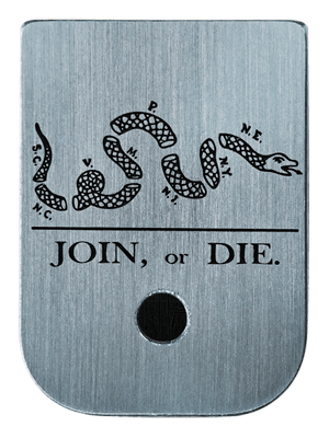 Join Or Die Mag Plate - 3 Finishes Available