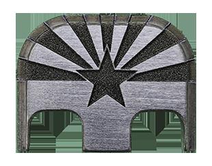 Arizona Flag Back Plate - 4 Finishes Available