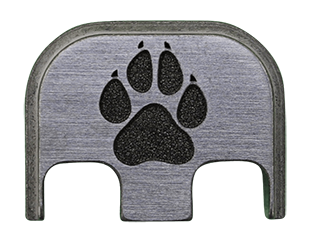 Dog Paw Back Plate - 4 Finishes Available