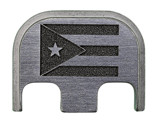 Puerto Rico Flag Back Plate - 4 Finishes Available