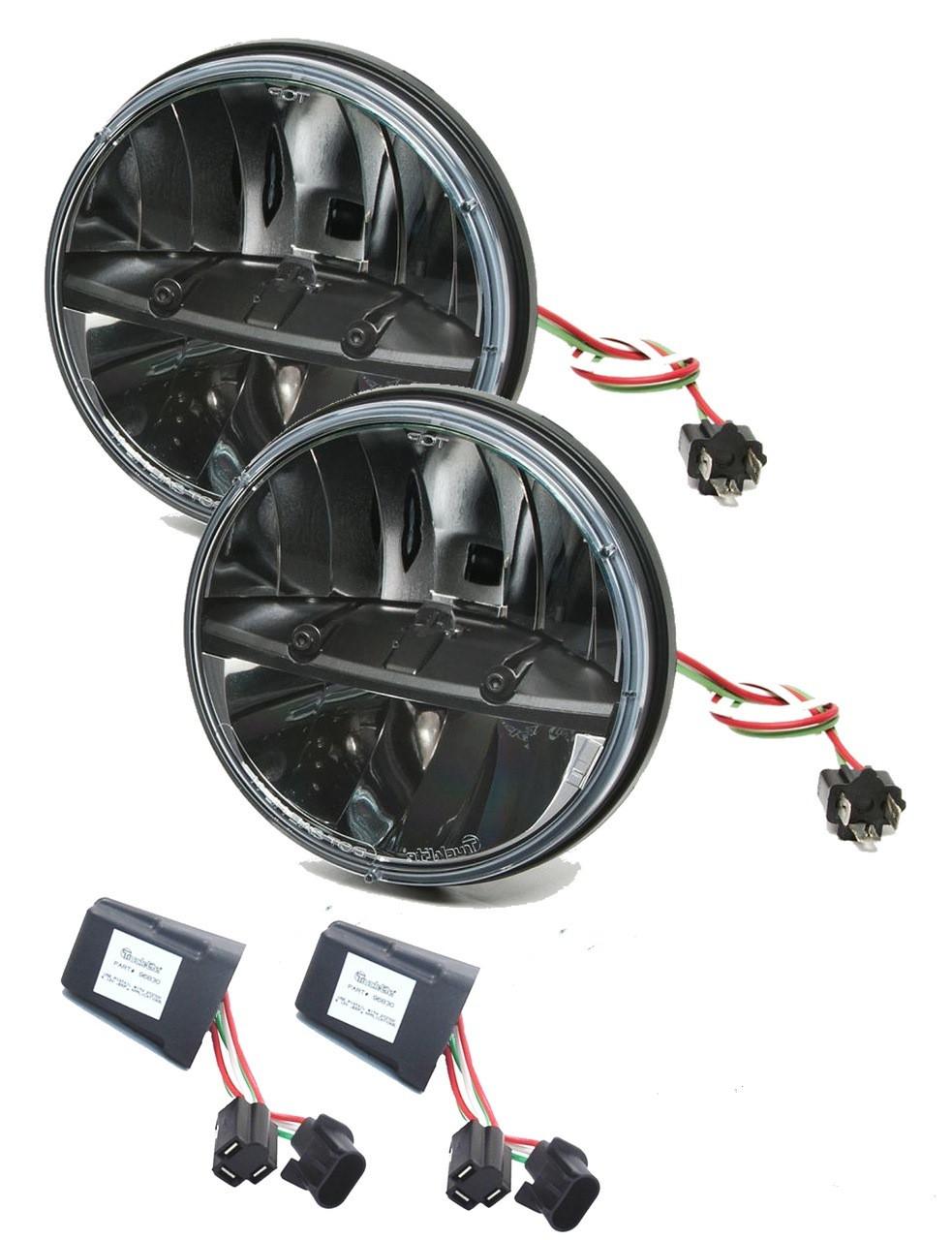 truck lite 27270c jeep jk kit 7 round led headlight pair anti rh drivetrainamerica com