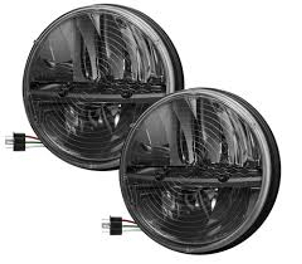 Truck Lite 27275c 7 Quot Round Led Heated Headlight Pair Jeep
