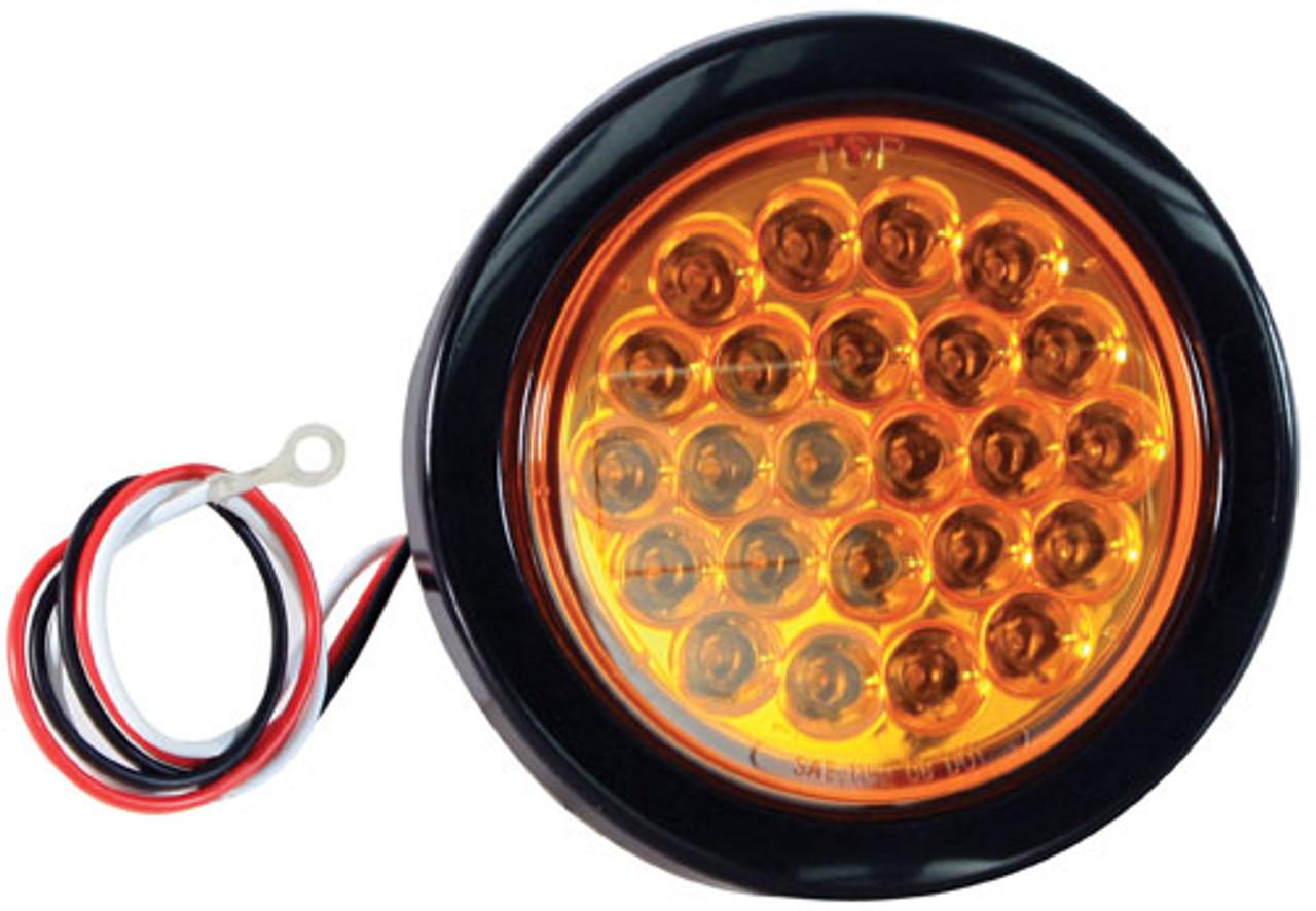 Buyers Sl40ar 4 Round Amber Led Emergency Strobe Light Recess 12
