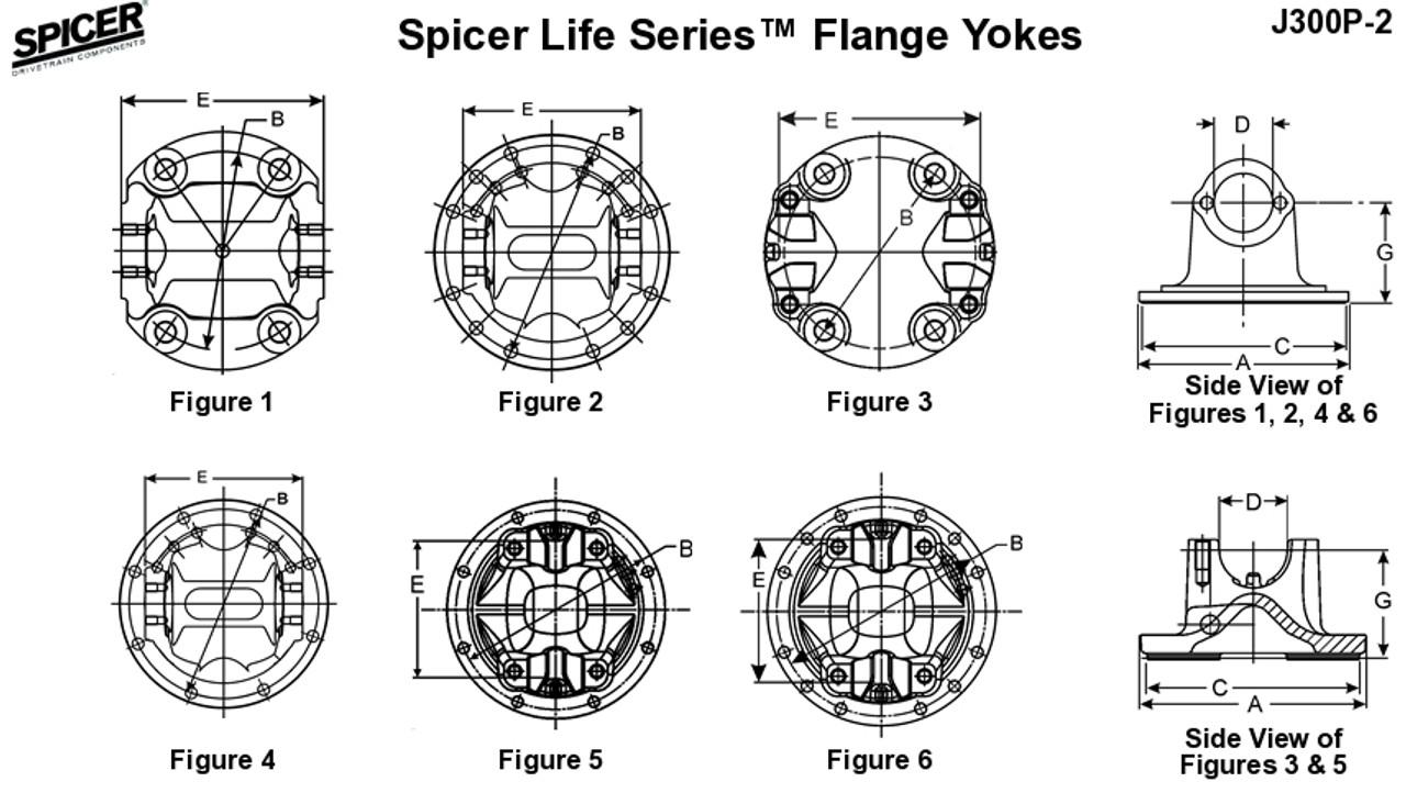 Spicer 3-2-1859 Flange Yoke