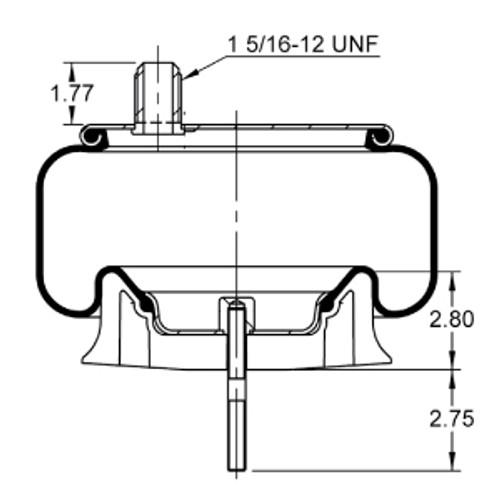 as 8537 triangle contitech air spring bag drivetrain america rh drivetrainamerica com