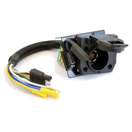 buyers tc1474p 7 way dual plug plastic truck end trailer connector rh drivetrainamerica com