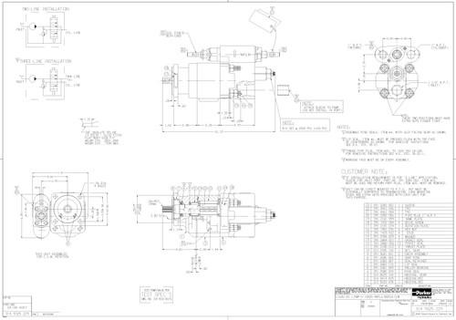 Parker Chelsea 314-9325-227 C102 CCW Dump Pump 2 5