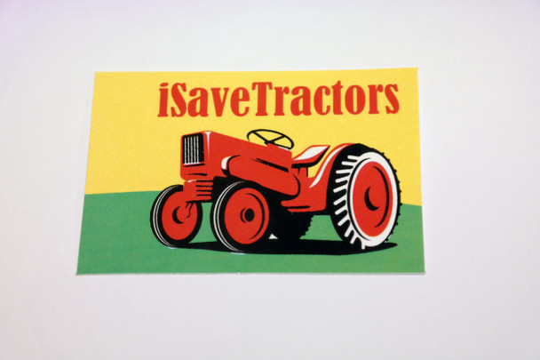 Weather-Proof iSaveTractors Sticker (FREE SHIPPING)