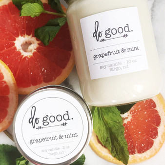 Grapefruit and Mint 3 oz Candle