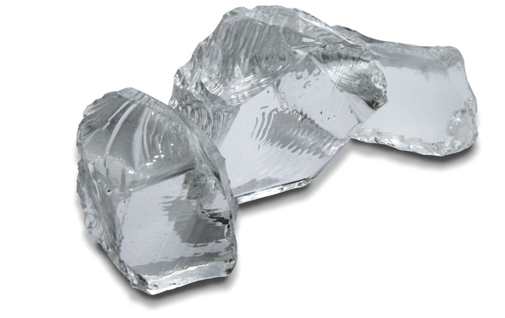 Clear Glass Nuggets - 2 Extra Large Clear Glass Nuggets