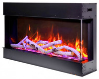 Amantii 72-TRU-VIEW-SLIM - 3 Sided Electric Fireplace