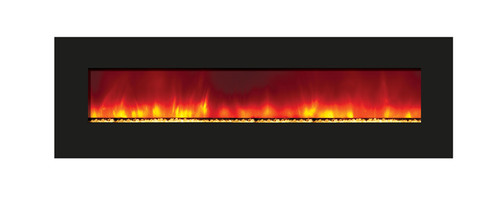 """Amantii 72"""" Wide Wall Mount or Built-In / BACK-LIT Electric Fireplace - WM-BI-72-8123"""