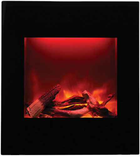 Amantii WM-BI-2428-VLR-BG Electric Fireplace with Black Surround or Curved  Surround