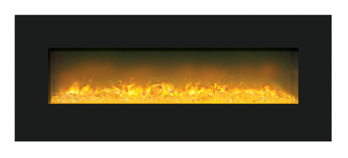 Amantii WM-BI-FI-48-5823-BLKGLS Electric Fireplace