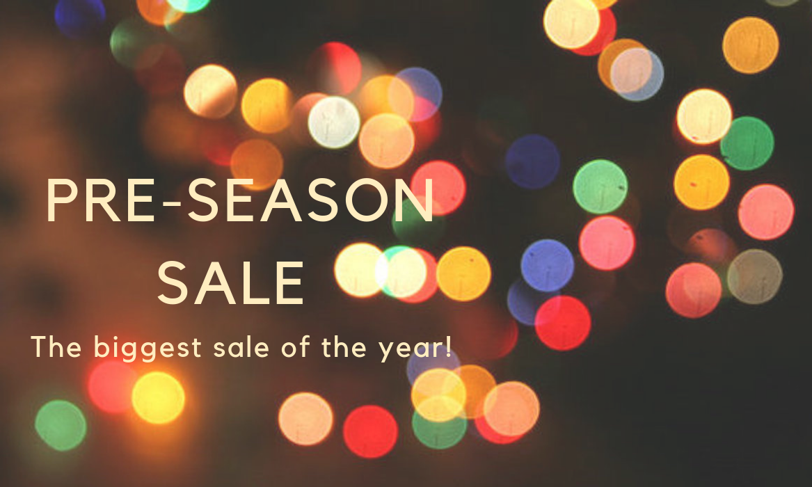 ANNUAL PRE-SEASON SALE: Get 25% off your order and FREE SHIPPING!
