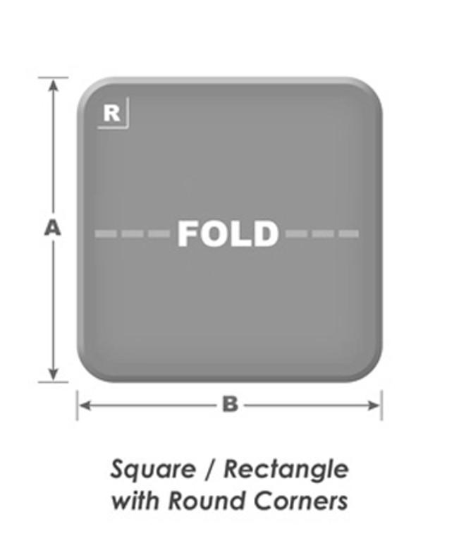 Hot Tub Cover 5 in/3 in Taper- Light Grey