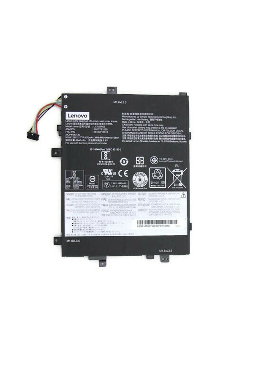 New Genuine Lenovo Tablet 10 39wh 2Cell Battery 5B10W13916
