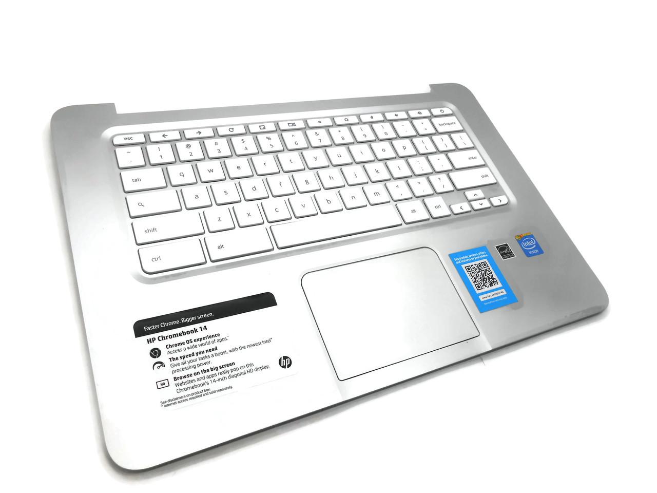 HP Chromebook 14 Palmrest Touchpad + Keyboard 34Y01TSTP00 (RF) 743681-001