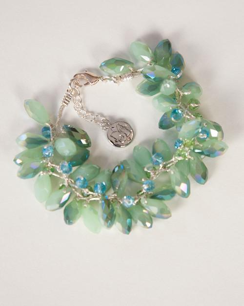 Tear Drop Bracelet-Green
