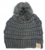 C.C Dark Melange Grey Pom Youth Beanie