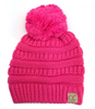 C.C New Candy Pink Pom Beanie YOUTH