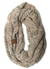 C.C Oatmeal Speckled Infinity Scarf