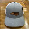 Round Here Clothing NC Leather Patch Heather grey/white Hat