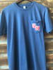 'Round Here Clothing Southern Nash Firebirds Pocket Tee Navy