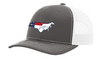 It's All About The South NC Flag Dog Charcoal/White Hat