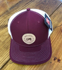 Round Here Clothing Nash County Tractor Patch Cardinal/White Hat