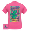 Girlie Girl Originals Stand Tall Pineapple-Safety Pink