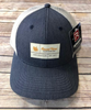 Round Here Clothing Tobacco Label Nash County Navy Heather/Light Grey hat
