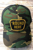 Round Here Clothing Gold Patch Green Camo/Black Hat