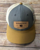 Round Here Clothing Tobacco Leather Patch Heather Grey/Amber Gold Hat