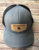 Round Here Clothing Tobacco Leather Patch Heather Grey/Black
