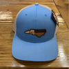 Round Here Clothing NC Leather Patch Columbia Blue/Khaki Hat