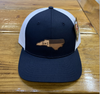 Round Here Clothing NC Leather Patch Navy/White Hat