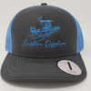Eastern Offshore Skiff Boat Charcoal/Columbia Blue Hat
