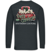 Southern Couture Merry Christmas Pups Dark Heather Long Sleeve