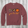 Daydream Tees Peace Love Fall - Red