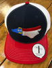 Crossroads Clothing NC State Flag Navy/White/Red Hat