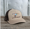 East Coast Waterfowl Embroidered Blue Wing Teal Khaki/Coffee Snap Back Hat