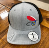 Crossroads Clothing NC Fly Lure Heather Grey/Black Hat