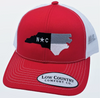 Low Country NC Flag NCSU Red/White Hat
