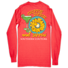 Southern Couture Chippin Dippin Neon Red Orange LS