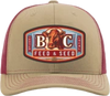 Bella Cotton Feed and Seed Cow Khaki/Crimson Hat
