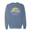 Southern Fried Cotton Hear Them Calling Fleece Pullover Blue Jean